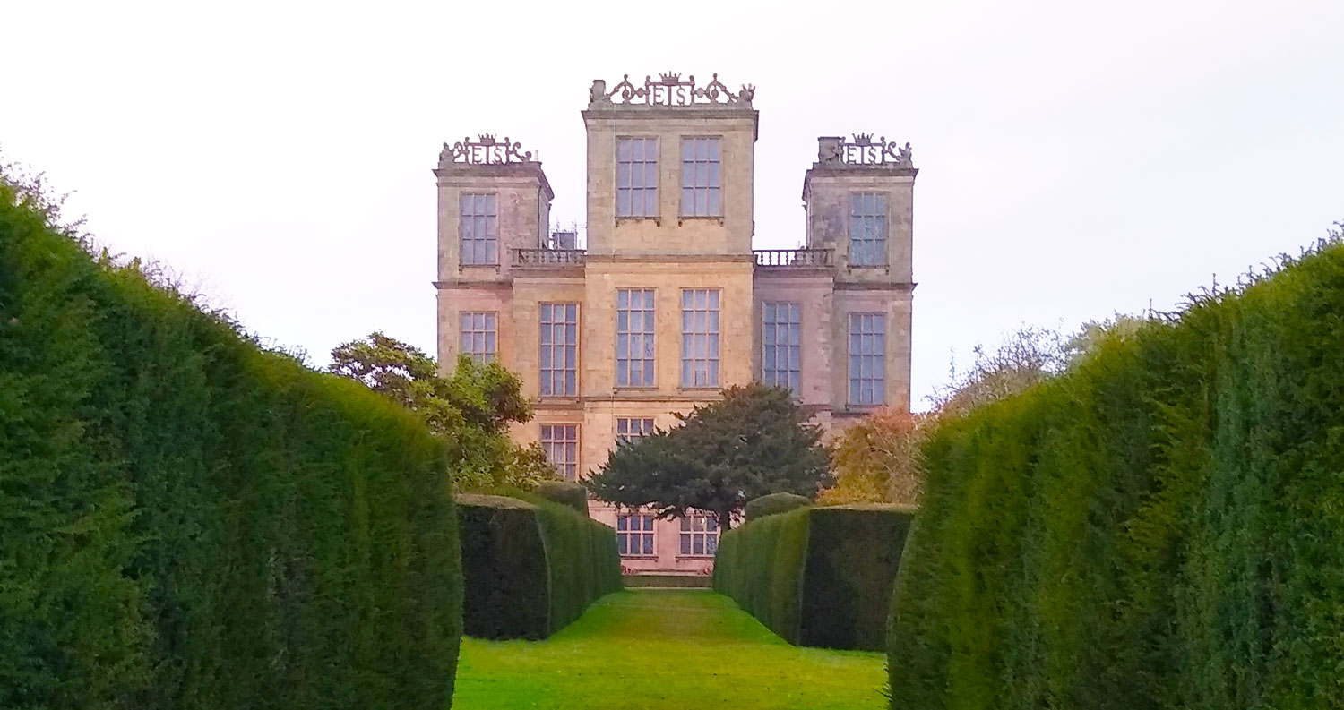 side view of hardwick hall