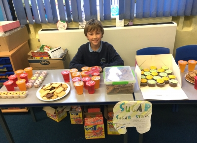 One of the many stalls at St Peter's School's Save Zimbabwe Sale