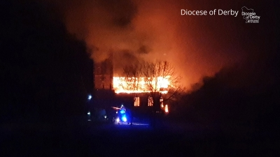 Serious fire at Mackworth All Saints