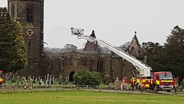 Fire damage at Mackworth All Saints 'extensive'