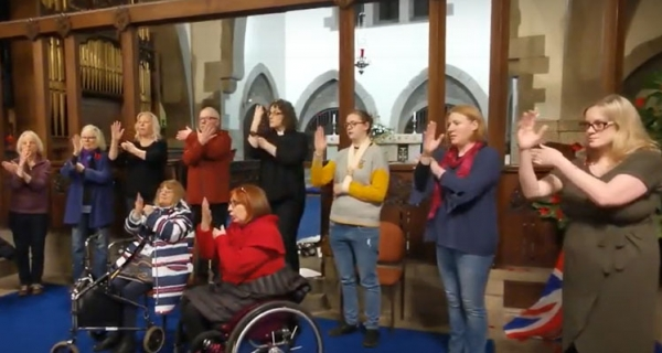 Signing choir debuts at Remembrance service